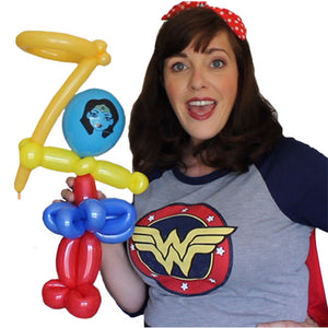 Fast Design Wonder Woman Balloon Video by Michelle Marvel