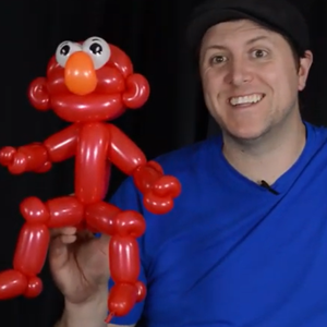 Elmo Line Work Balloon Art by Balloon Josh
