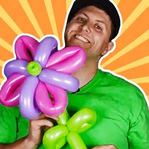 Fantasy Flower Balloon Art Tutorial by Balloon Josh