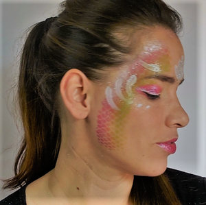 Easy Mermaid Face Paint Video by Leonora Gabucio
