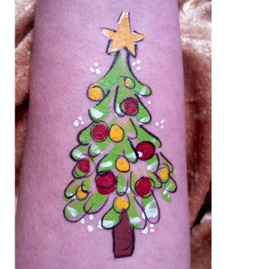 How to Face Paint a Quick and Easy Christmas Tree