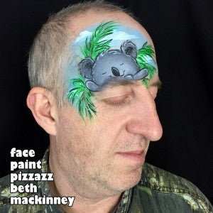 Face painting tutorial for a sleepy koala