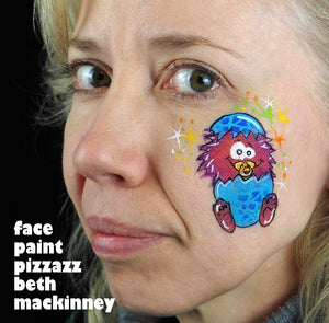 Baby monster face paint tutorial