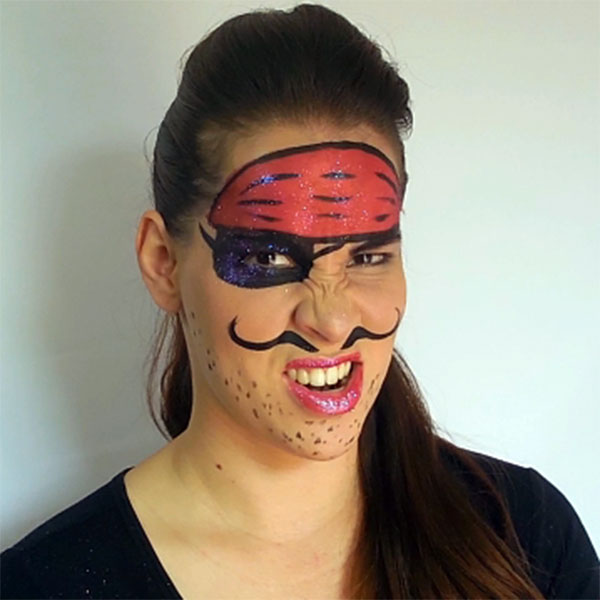 Fun Pirate Face Paint by Leonora
