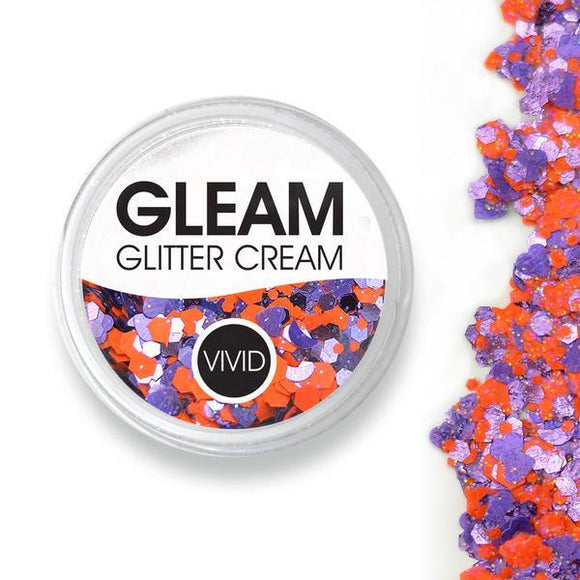 VIVID Gleam Glitter Cream - Fearless - Purple & Orange (10 gm)