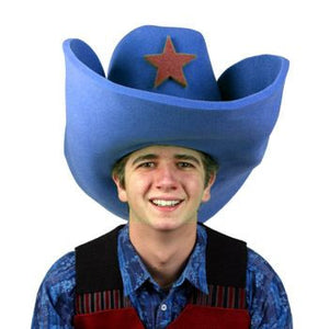 "Super Size 50 Gallon Cowboy Hats - Blue (28"")"