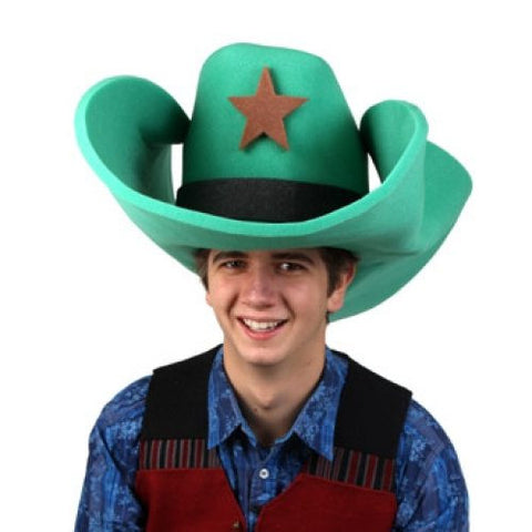 "Super Size 50 Gallon Cowboy Hats - Green (28"")"