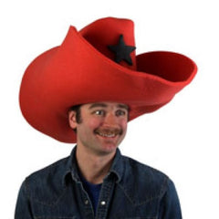 "Super Size 50 Gallon Cowboy Hats - Red (28"")"