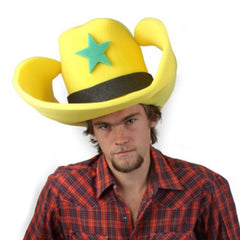 "Super Size 50 Gallon Cowboy Hats - Yellow (28"")"