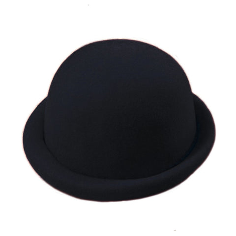 Felt Derby w Rolled Rim - Black