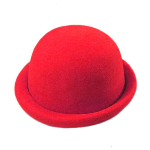 Felt Derby w Rolled Rim - Red