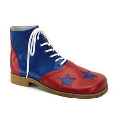 3 Star Red and Blue Leatherette Clown Shoes