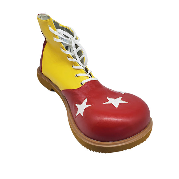 3 Star Red and Yellow Leatherette Clown Shoes