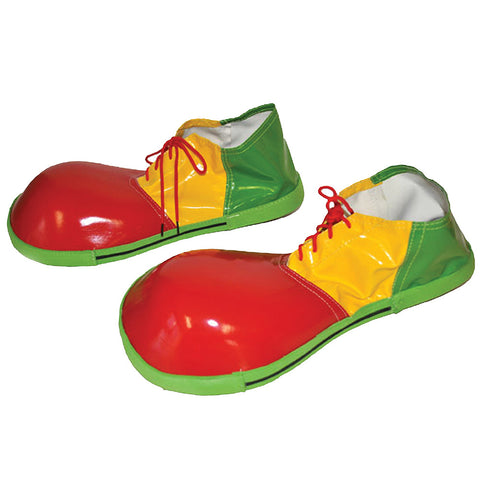 Vinyl Clown Shoes - Red, Yellow, Green