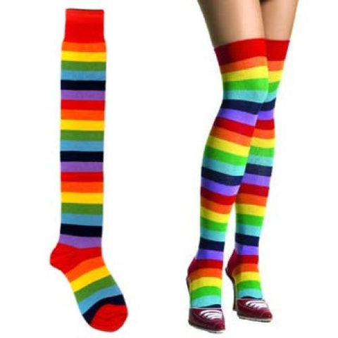 Thigh High Socks - Rainbow