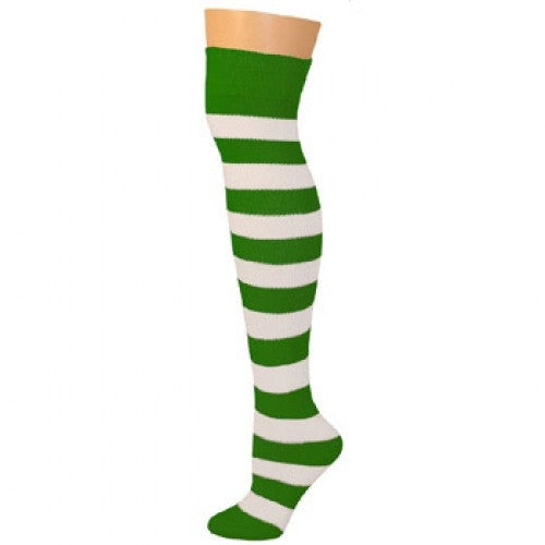 Striped Socks - Kelly/White