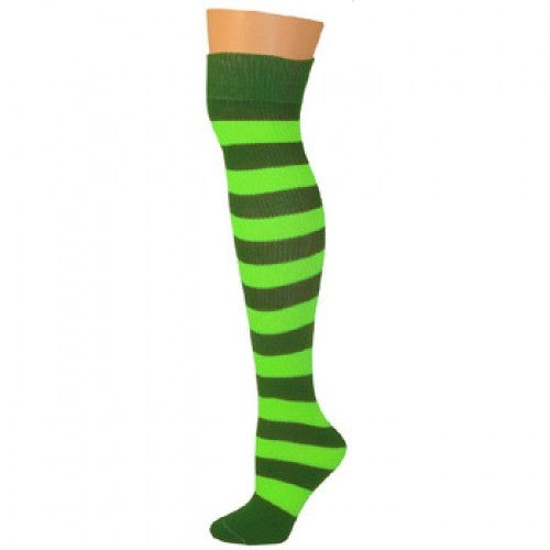 Striped Socks - Kelly/Lime