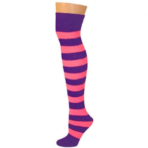 Striped Socks - Purple/Pink