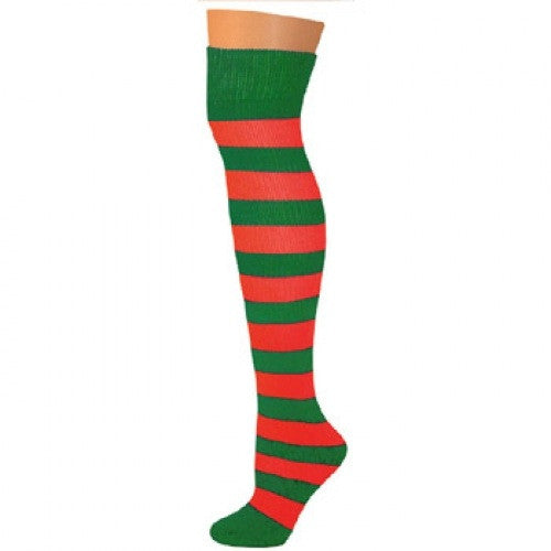 Striped Socks - Kelly/Red