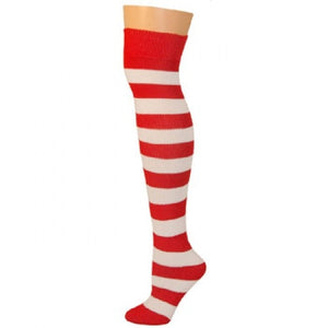 Striped Socks - Red/White