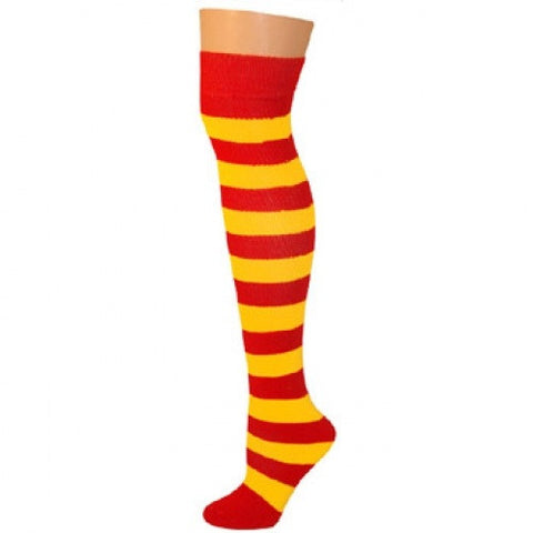 Striped Socks - Red/Gold