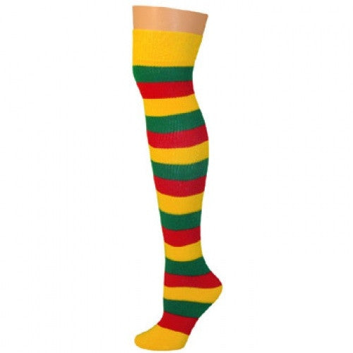 Striped Socks - Red/Gold/Kelly
