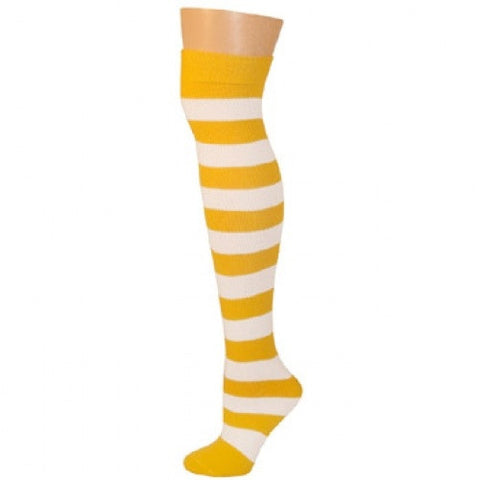 Striped Socks - Gold/White
