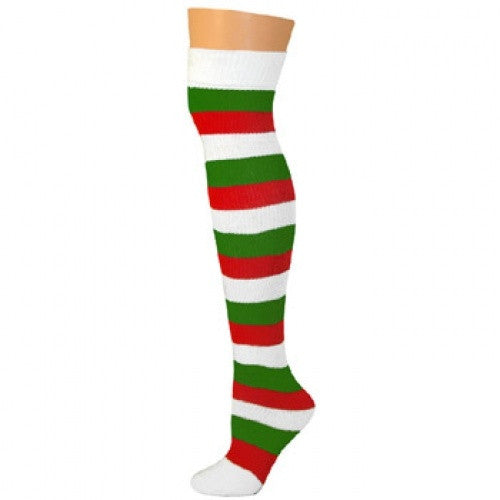 Striped Socks - Red/White/Kelly