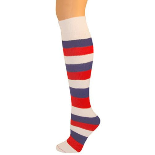 Kids Striped Knee Socks - Red/White/Blue