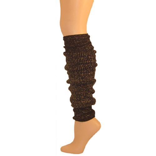 Leg Warmer, Sparkle Black/Gold 22