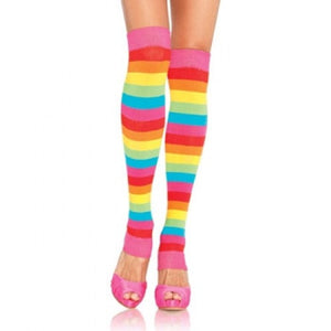 Leg Warmer,  Striped - Rainbow 22""