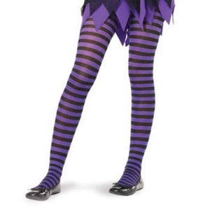 Striped Tights - Black/Purple (One Size)