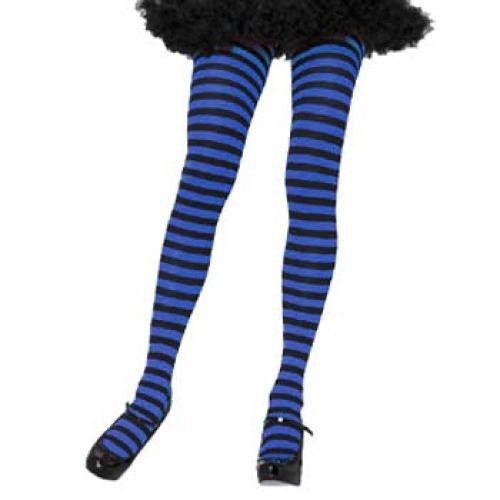 Leg Avenue Adult Striped Tights - Black/Blue (One Size)