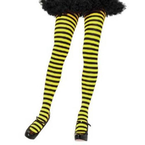 Striped Tights, Adult - Black/Yellow