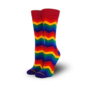 Zig Zag Socks - Women (5-10) - Knee High
