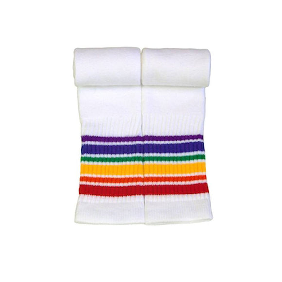 Rainbow Striped Socks Athletic 22