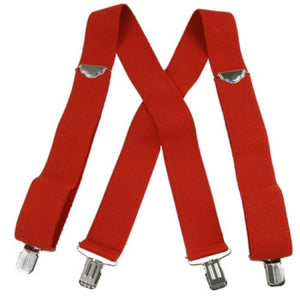 "Jumbo Clip Suspenders - Red (2"")"