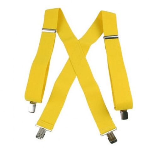 "Jumbo Clip Suspenders - Canary Yellow (2"")"