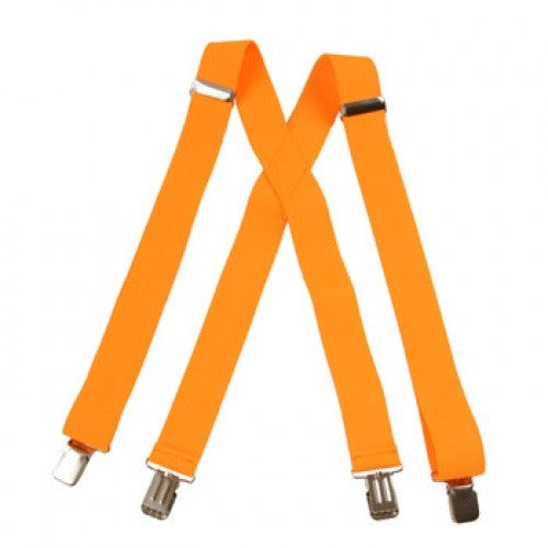 Jumbo Clip Suspenders - Yellow Gold (1.5