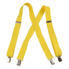 "Jumbo Clip Suspenders - Canary Yellow (1.5"")"