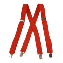 "Jumbo Clip Suspenders - Red (1.5"")"