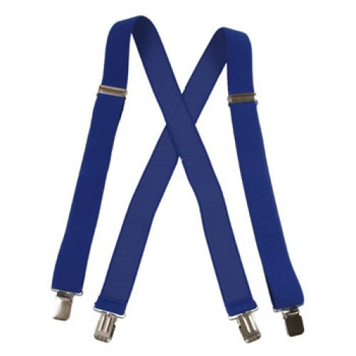 Jumbo Clip Suspenders - Royal Blue  (1.5
