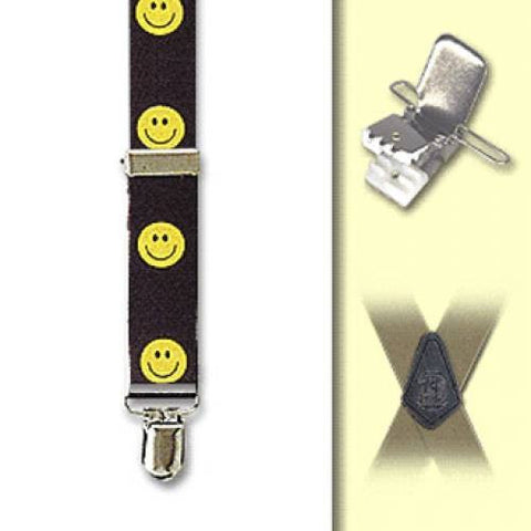 "Smiley Face Clip Suspenders - All Smiley Face (1"")"