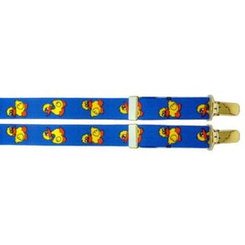 Light Blue Duckies Clip Suspenders (1