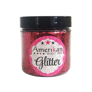Amerikan Body Art Chunky Glitter - Firetruck Red (4 oz)