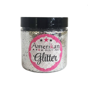 Amerikan Body Art Chunky Glitter - Chrome Silver (4 oz)