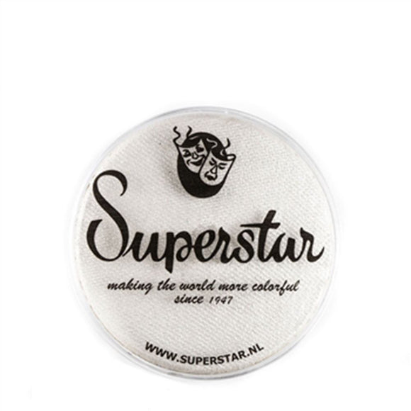 Superstar Aqua Face & Body Paint - Silver White Shimmer 140 (16 gm)