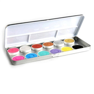Superstar Aqua 12 Color Shimmer And Pastel Duo Palette (5 gm)