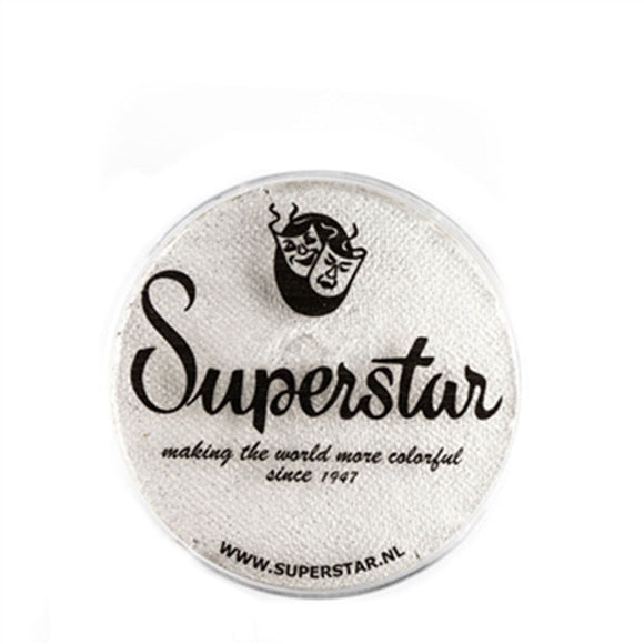 Superstar Aqua Face & Body Paint - Silver White Shimmer w Glitter 064 (16 gm)