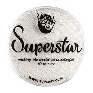 Superstar Aqua Face & Body Paint - Silver White Shimmer w Glitter 064 (45 gm)